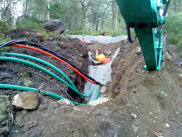 Legge kabel i bakken